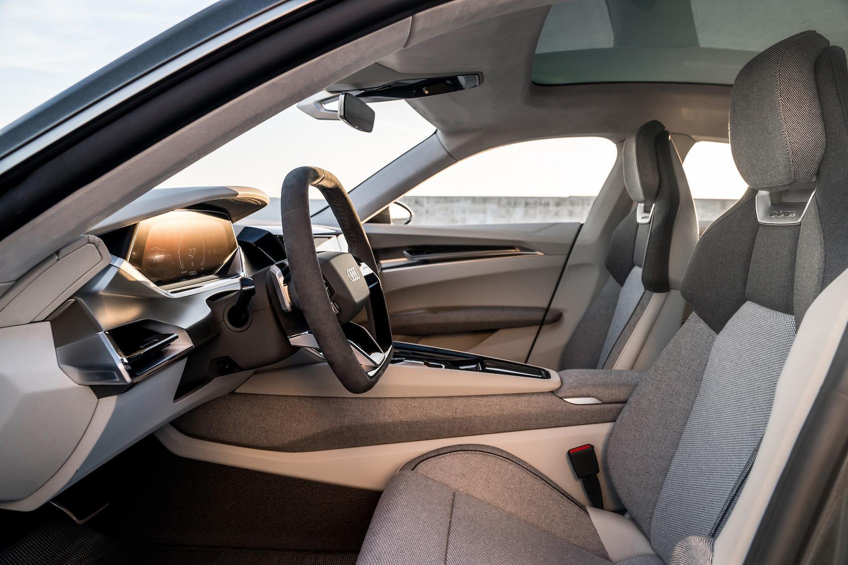 La durabilité peut être belle, la preuve: l'e-tron GT concept d'Audi a un habitacle végan. (Audi)