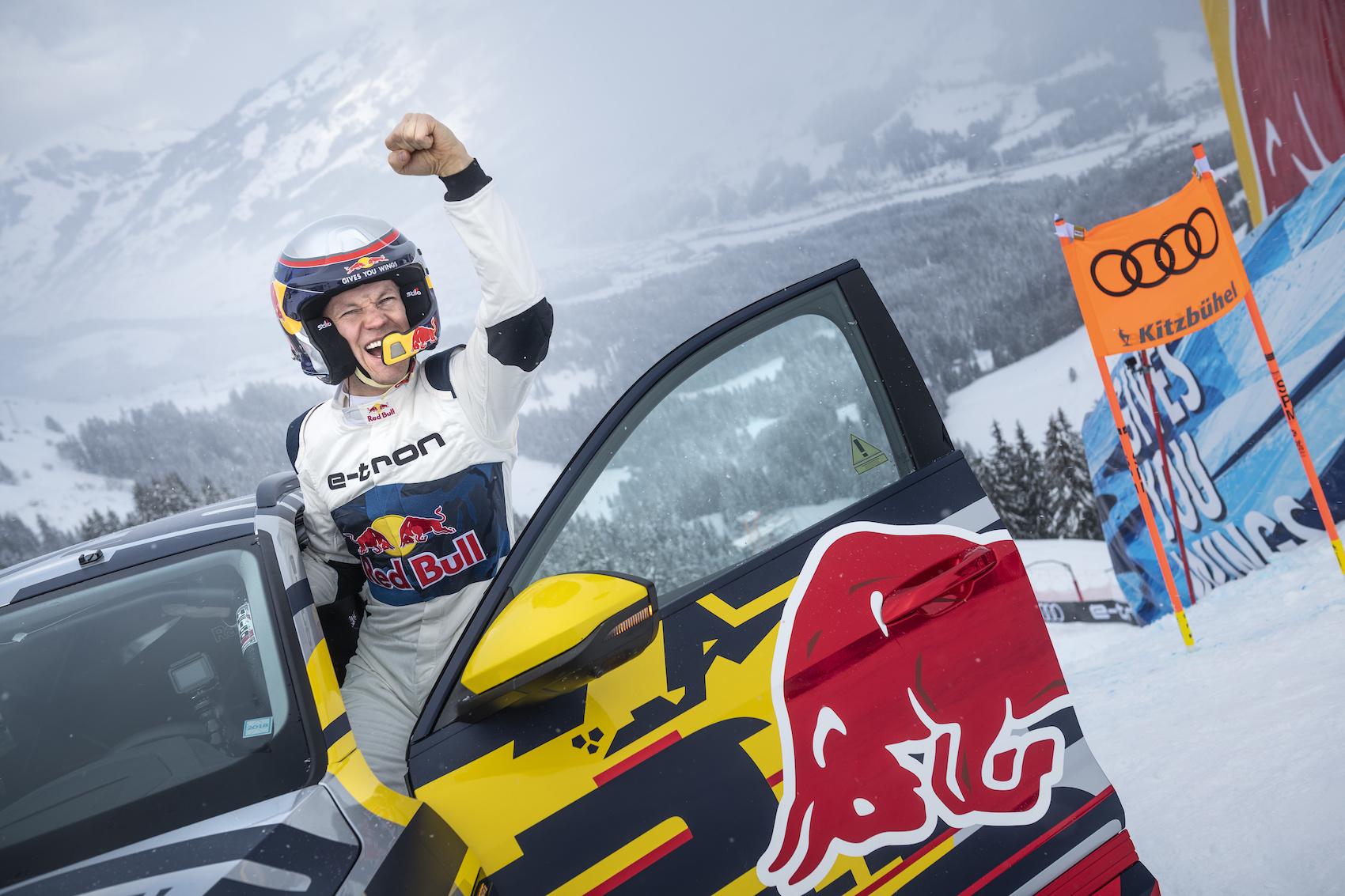 Le champion du monde de rallycross Mattias Ekström, vainqueur du défi de la «Mausefalle». (Photo: AUDI)