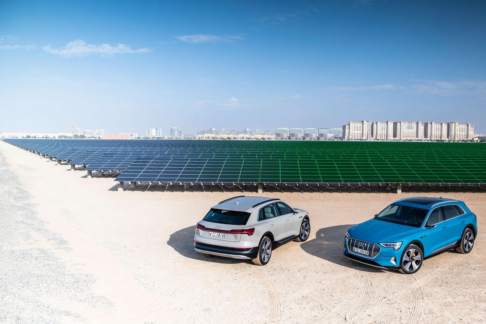 La plus grande centrale solaire du Proche-Orient, à Masdar City, dans l'émirat d'Abou Dhabi. (AUDI/traitement Brand Studio)