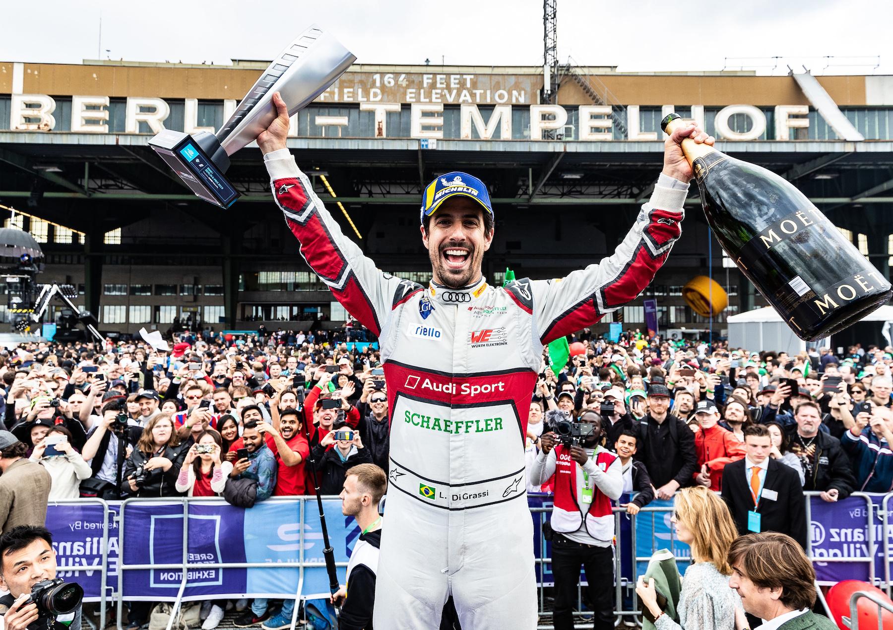 Prima vittoria della stagione per Lucas di Grassi nella gara prima di Berna. (Audi Communications Motorsport/Michael Kunkel)