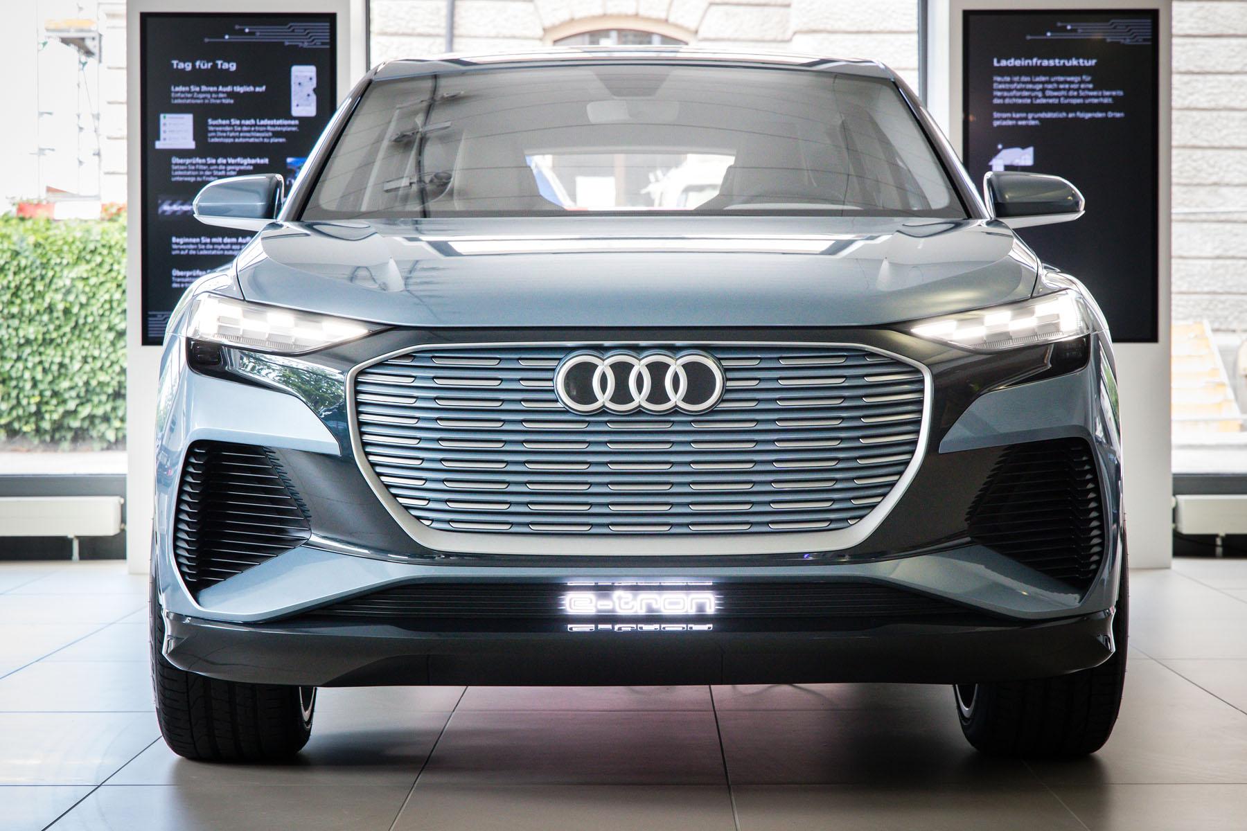 Dans l'e-tron experience center à l'Utoquai de Zurich, il est déjà possible de s'émerveiller du prochain modèle d'Audi. (StefanBohrer)
