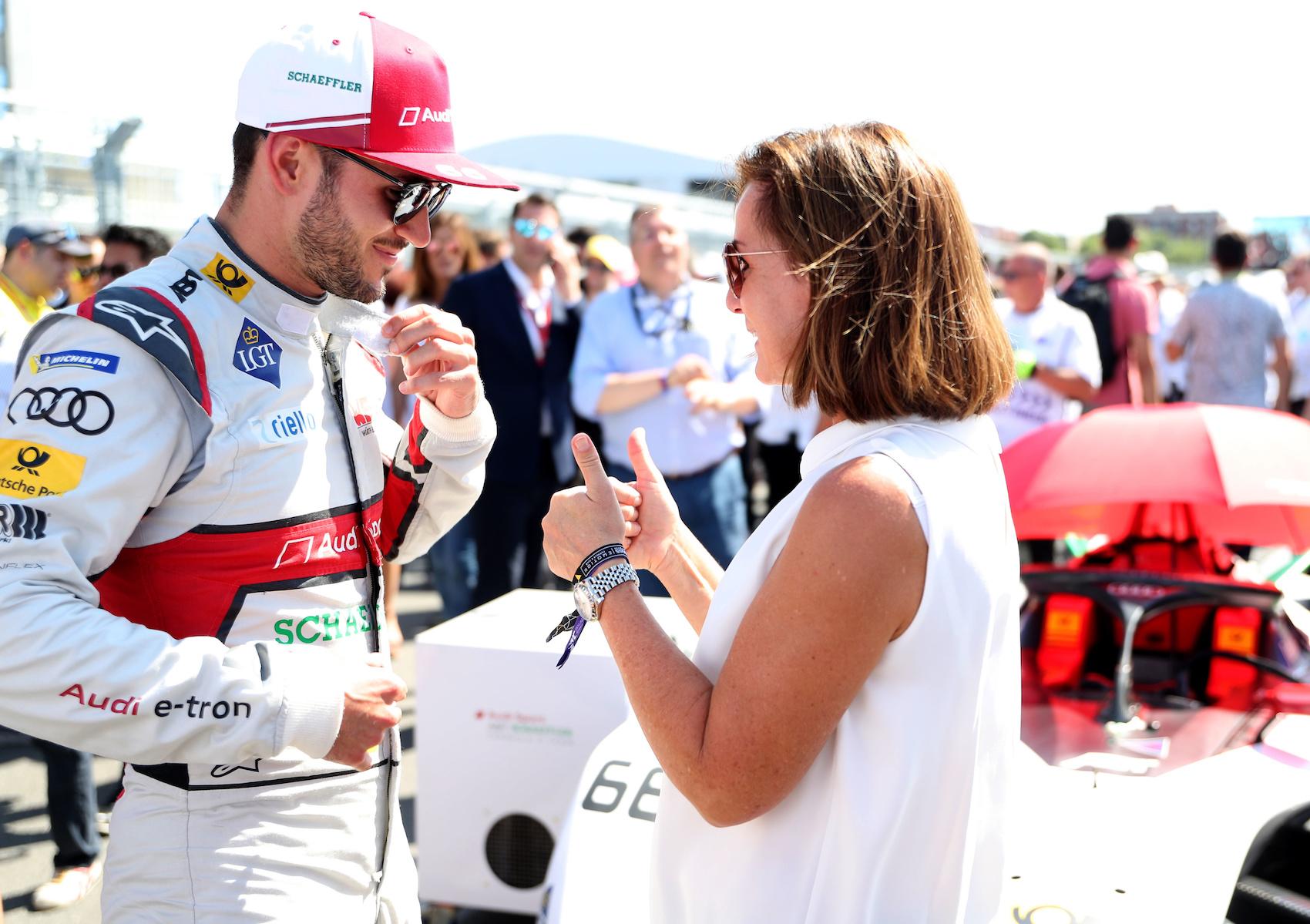 La Formule E comme moteur d'émotion: Le pilote Daniel Abt et Hildegard Wortmann à l'E-Prix 2019 de New York City.