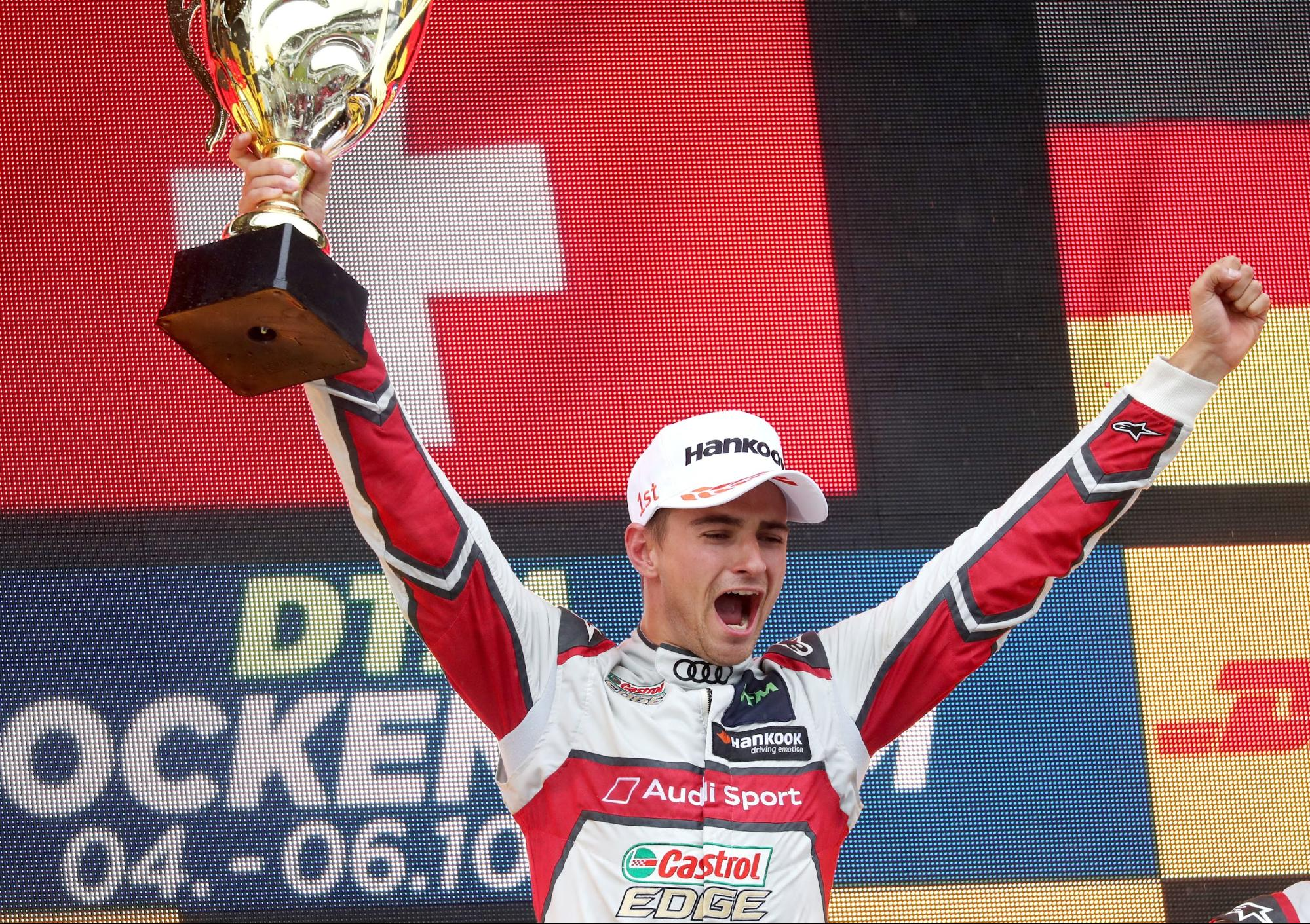 L'adversaire est vice-champion du monde DTM: Nico Müller le 6octobre2019 à Hockenheim (D). (AUDI)