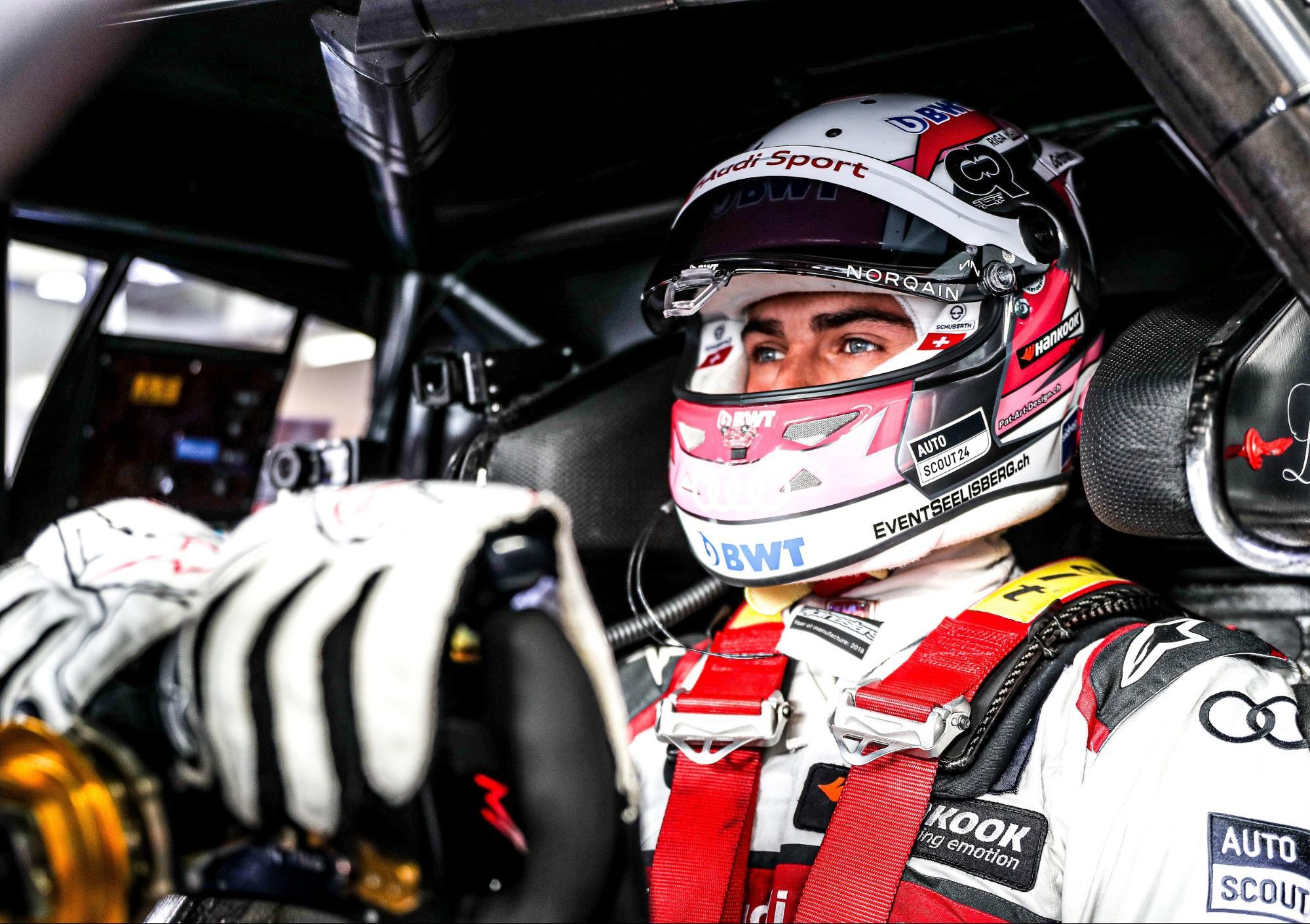 Nico Müller dans le cockpit de son AudiRS5DTM. (AUDI)