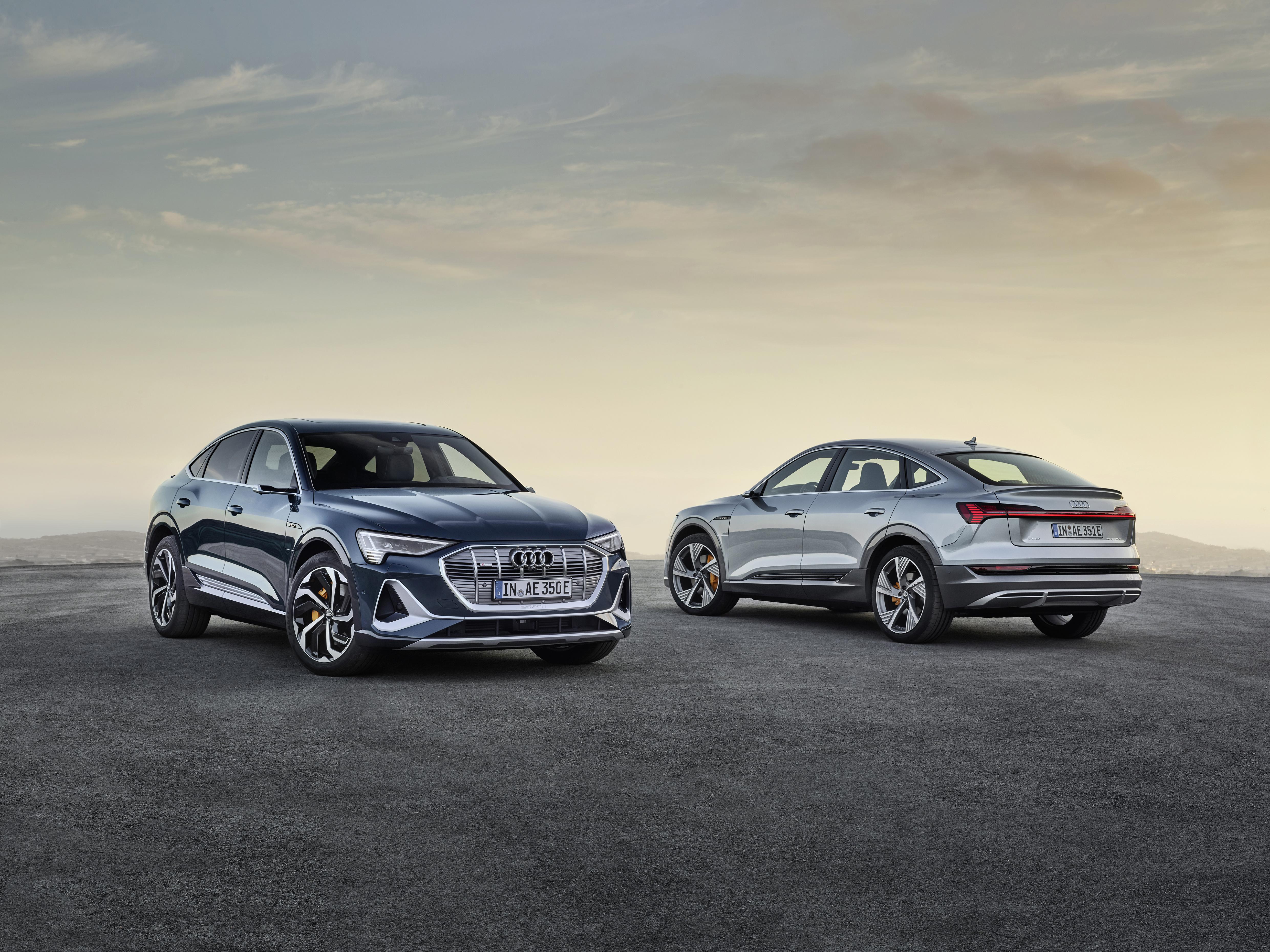 Der Audi e-tron Sportback ist noch aerodynamischer als sein Schwestermodell Audi e-tron. (AUDI)