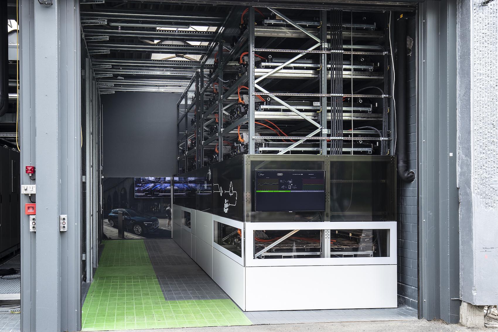 Visuale dell'accumulatore di energia presso il campus EUREF.